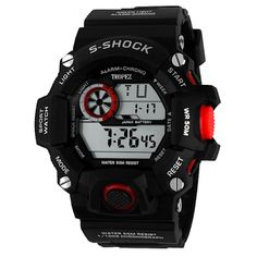 Tropez S-Shock Digital Sports Watch - Red