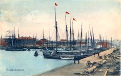 Port of Frederikshavn, Denmark. Fishing vessels are filling up the harpour basin. Founders and soles were the most inportant fishes there.