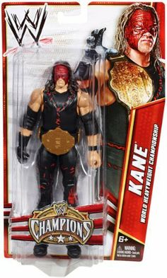 Mattel WWE Wrestling Exclusive Champions Action Figure Kane [with Belt] by MATTEL. $19.30. Includes WWE World Heavyweight Championship toy belt!. There's no time for losers with the WWE Champions! These Superstar figures are all past or present titleholders and come with a Championship belt sized for their approximate 7-inch scale. Each figure also offers extreme articulation, amazing accuracy and authentic details like armbands and tattoos. Ages 6 and older.