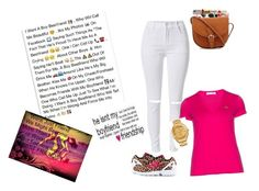 """"""" He's my boy BestFriend """" by nevaeh17-1 ❤ liked on Polyvore featuring adidas Originals, Lacoste, Versace, women's clothing, women, female, woman, misses and juniors"""