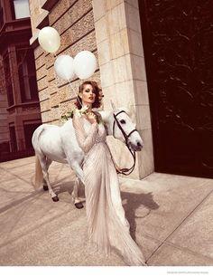 Nadja Bender Models Beaded Dresses for Neiman Marcus' The Book