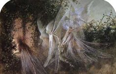 Fairies Looking Through a Gothic Arch, John Astor Fitzgerald (from artpassions.net)