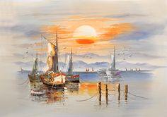 istanbul manzaralı eski yağlı boya tablolar - Google'da Ara