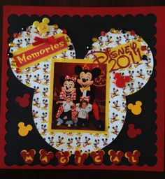 My first Disney scrapbook page! - Scrapbook.com