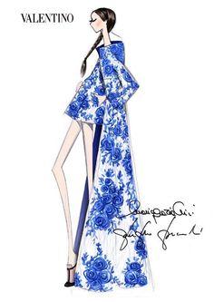 Sketches. Fashion.