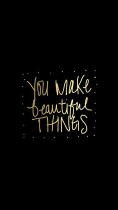 Tap on image for more Quote Wallpapers! Make Beautiful Things - @mobile9 #typography