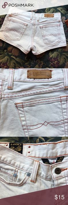 Lucky Brand denim jean shorts white - size 0 Great preowned condition size O Lucky Brand Shorts Jean Shorts