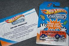 So cool! Customize a hotwheels car with your kids photo and slogan.