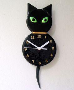 1000 Images About Cat Decor Clocks On Pinterest Cat