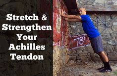 Use this Achilles tendon stretch to get more flexibility in your calf and ankles. If you like to run, hike, dance, or jump, you definitely want to give this a try. Tight Achilles Tendon, Achilles Stretches, Ankle Stretches, Anterior Shin Splints, Plantar Fasciitis Treatment, Ankle Pain, Calf Muscles, Broken Leg, Flexibility Workout