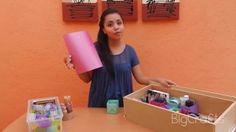BigCrafts: Organiza tu maquillaje con hojas de papel