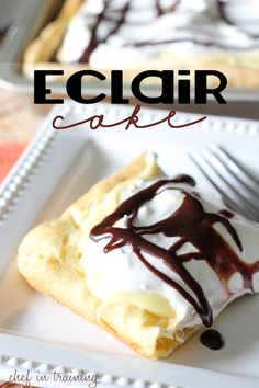 Eclair Cake! pinner's words of wisdom- This cake is so easy to make and will completely wow your guests! It is delicious!