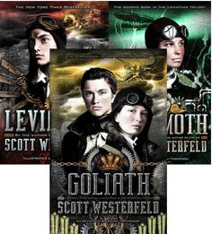 Lexile ranges: 790-810.  The Leviathan trilogy by Scott Westerfeld.  Join Alek and Deryn's on a fantastical, around-the-world adventure that will change both their lives forever.  Recommended by Liz Bode, CCHS and Joe Falk, Parkway