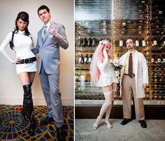 Archer, Lana, Dr Krieger, and Krieger's virtual girlfriend cosplay
