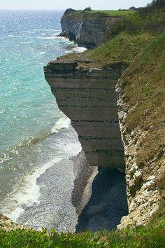 Stevns Klint chalk cliffs in Zealand, Denmark