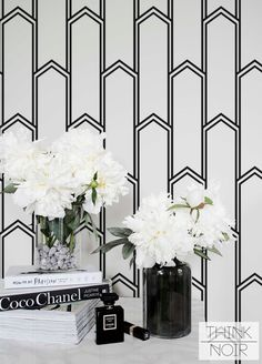 15 % Minimalistic Art Deco Removable Wallpaper / Self Adhesive / Regular Wallpaper / Geometric Wall Mural /