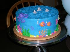 Awesome ocean party birthday cake