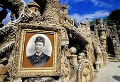 Ferdinand Cheval was a French postman in the village of Hauterives in southeast France, who gathered stones on his mail route each day to build Le Palais Ideal,