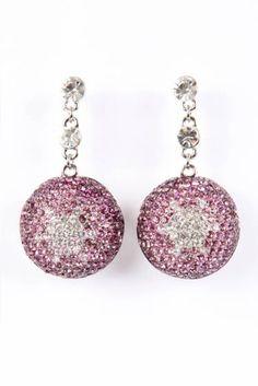 Crystal Ball Earrings - Lovely in Lilac #earrings