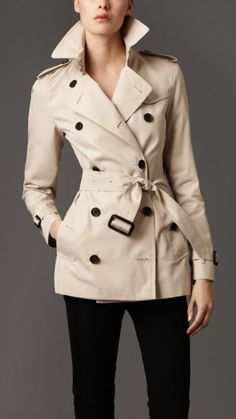 Burberry trench, so classic.