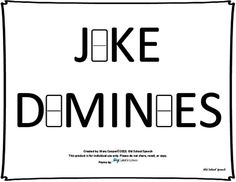 Joke Dominoes from Old School Speech on TeachersNotebook.com -  (7 pages)  - Jokes/Riddles in domino format