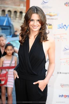 """"""" 6 years ago this week, Stana Katic attended the Roma Fiction Fest and looked amazingly beautiful, as always. Stana Katic, Nathan Fillon, Kate Beckinsale Hot, Kate Beckett, Great Tv Shows, Her Smile, Up Girl, Woman Crush, Most Beautiful Women"""