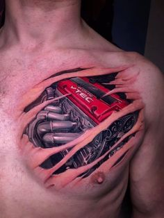 Engine tattoo by Tomas! Limited availability at Revival Tattoo Studio! Racing Tattoos, Car Tattoos, Biker Tattoos, Body Art Tattoos, Sleeve Tattoos, Motor Tattoo, Tatoo Designs, Tattoo Design Drawings, Neck Tattoo For Guys
