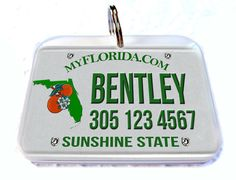 Florida car license plate Personalized Custom ID by CustomPetTags