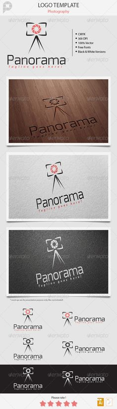 Panorama - Photography Logo — Vector EPS #studio #artistic • Available here → https://graphicriver.net/item/panorama-photography-logo/5412267?ref=pxcr
