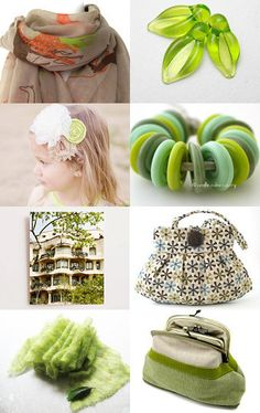 Lime and Beige by Olga Ruban on Etsy--Pinned with TreasuryPin.com