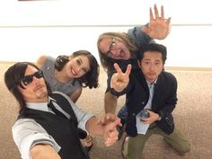 Norman Reedus, Lauren Cohan, Greg Nicotero, & Steven Yeun