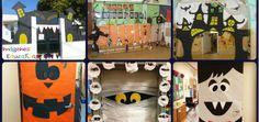 Halloween Puertas y clase decoración Portada Halloween 2018, Halloween Infantil, Adornos Halloween, Company Logo, Cards, Halloween Puertas, Painting, Ideas Originales, Occupational Therapy