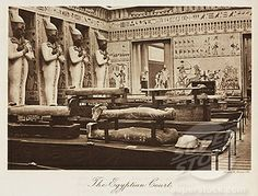 Egyptian Court inside the Crystal Palace, London, 1911 Crystal Palace, Hyde Park, Exhibition Building, Palace London, Uk History, Victorian London, Le Palais, Expositions, World's Fair