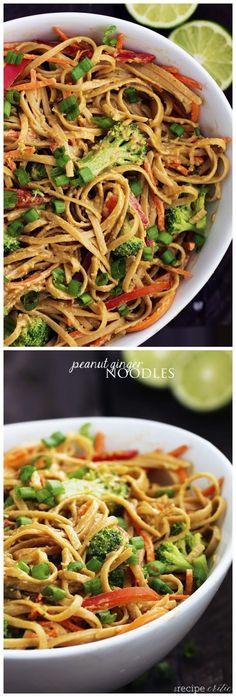 Peanut Ginger Noodles ~ Boutique Recipes