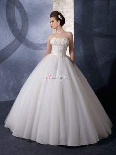 Schlicht Herzförmig Empire Hochzeitskleid