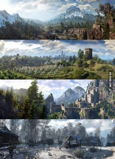 The Witcher 3 panoramas