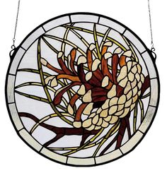 Brand New Item...17 Inch W X 17 In... Going Fast!  http://www.thesurvivalplace.com/products/17-inch-w-x-17-inch-h-pinecone-medallion-stained-glass-window?utm_campaign=social_autopilot&utm_source=pin&utm_medium=pin