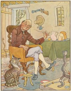 Last week's Caturday...This drawing from the late 1800s originally ran in a book of nursery rhymes, and is now in our Mid-Manhattan Picture Collection. It illustrates a story about a crooked man, with crooked furniture,  a crooked window, and, of course, a crooked cat. It's perfectly weird - happy Caturday!