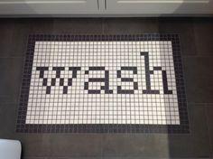 wash tile + word tile + floor tile