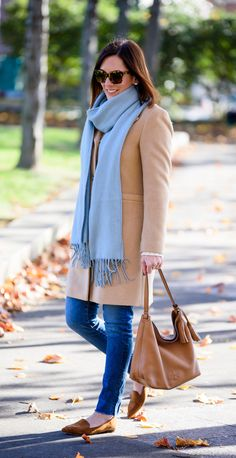 A long camel coat is such a classic wardrobe piece for anyone living in a cold climate, and a great way to add polish to an outfit or level up a casual look. It also comes in handy for church or other dressy occasions. | Fashion Over 40 | Fall Fashion | Outfit Ideas | ##fallfashion