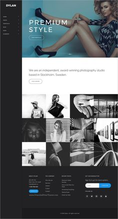Dylan is an high-performance & modern design HTML #bootstrap template for #Photography #portfolio showcase stunning websites with 20+ different homepage layouts download now➩ https://themeforest.net/item/dylan-responsive-multipurpose-html-template/19269462?ref=Datasata