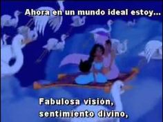 Un mundo ideal ( Aladdin ) con Letra y musica Esp. latino.wmv