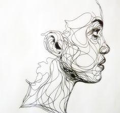 ballpoint pen line drawing | kris trappeniers..