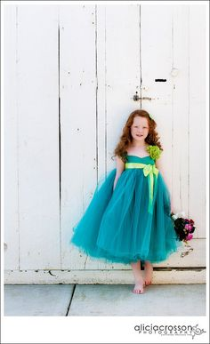 Turquoise and Lime Green Dress