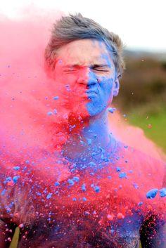 Amazing color run photo