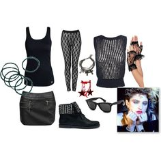 80's Madonna by jem85 on Polyvore featuring Under Armour, Edun, Forever 21, By Malene Birger, Michael Kors, Emanuele Bicocchi, SAM, Madonna and Ray-Ban