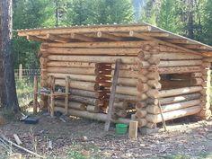 64 Super Ideas for garden shed chicken coop homestead survival Diy Log Cabin, How To Build A Log Cabin, Log Cabin Living, Small Log Cabin, Tiny House Cabin, Log Cabins, Log Shed, Off Grid Cabin, Survival Shelter