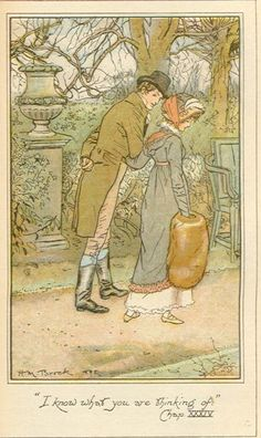 H. M. Brock 'I know what you are thinking of' from Mansfield Park by Jane Austen