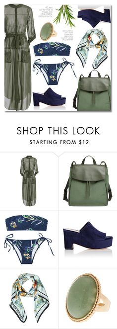 """""""Maxi dress look"""" by laurafox27 ❤ liked on Polyvore featuring Skagen, Loeffler Randall and Matthew Williamson"""