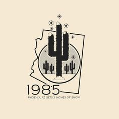 This Day In History - Dec 9 - 1985 - Phoeniz Arizona receives 3 inches of snow.  -- #thisdayinhistory #todayinhistory #tdih #history #arizona #phoenix #southwest #winter #snow #cactus #desert #christmas #hot #bizarre #365project #illustration #vector #usa #america #map #minimal #minimalism #minimalist #texture #simple #1985 #christmasmiracle